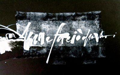 La Calligrafia per me è una riflessione estetica permeata di emozione